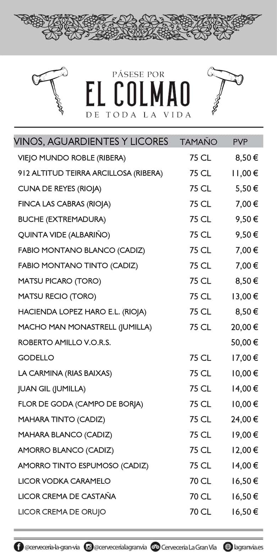 Tienda EL Colmao - Licores